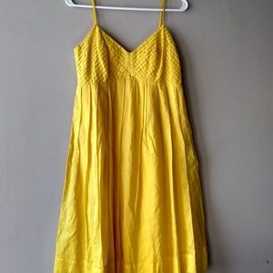 Marvin Richards Spaghetti strap dress yellow
